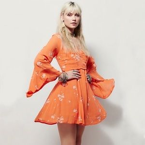 Free People Jasmine Embroidered Floral Boho Dress
